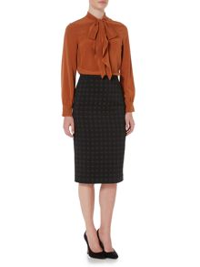 Max Mara Fernet jacquard printed pencil skirt