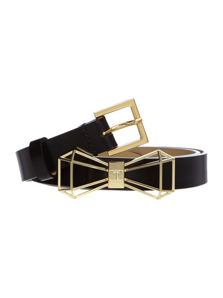 Ted Baker Adalina black bow belt