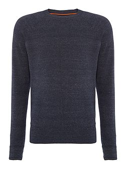 Relay cotton stretch crew neck jumper