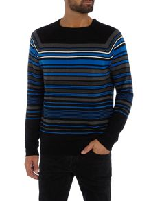 Duck and Cover Turismo breton stripe crew neck jumper