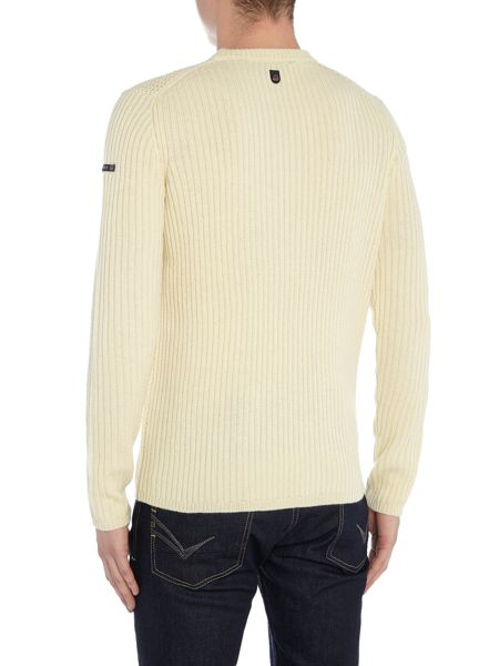 Duck and Cover Oban crew textured knit jumper