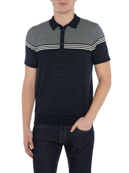 Duck and Cover Circline textured polo