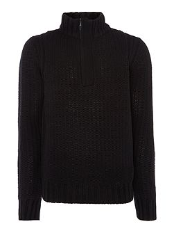 Lyon quarter zip textured jumper