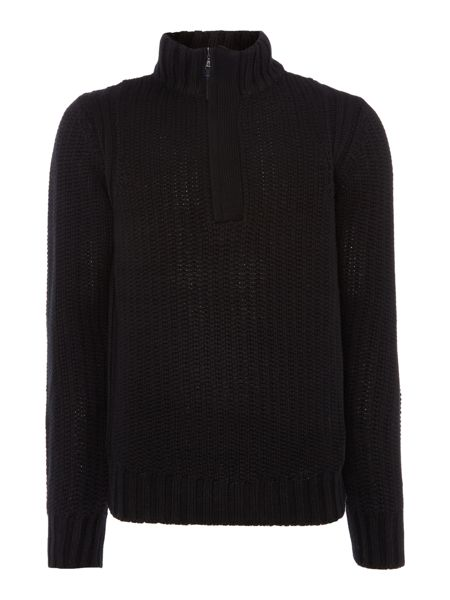 Duck and Cover Lyon quarter zip textured jumper