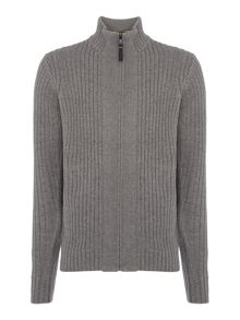 Duck and Cover Turin  zip through textured jumper