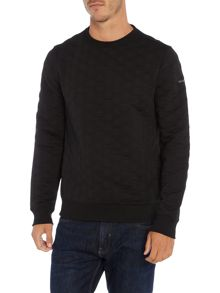Duck and Cover Crested layer insulated crew neck sweat