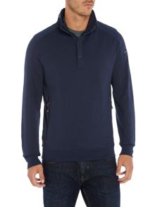 Duck and Cover Utopia 1/4 zip sweatshirt
