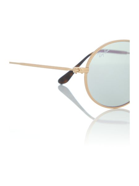 Ray-Ban Gold oval RB3547N sunglasses