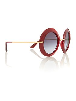 Red round DG6105 sunglasses
