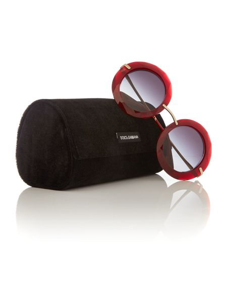 Dolce&Gabbana Red round DG6105 sunglasses