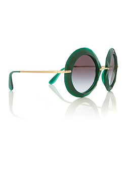 Green round DG6105 sunglasses