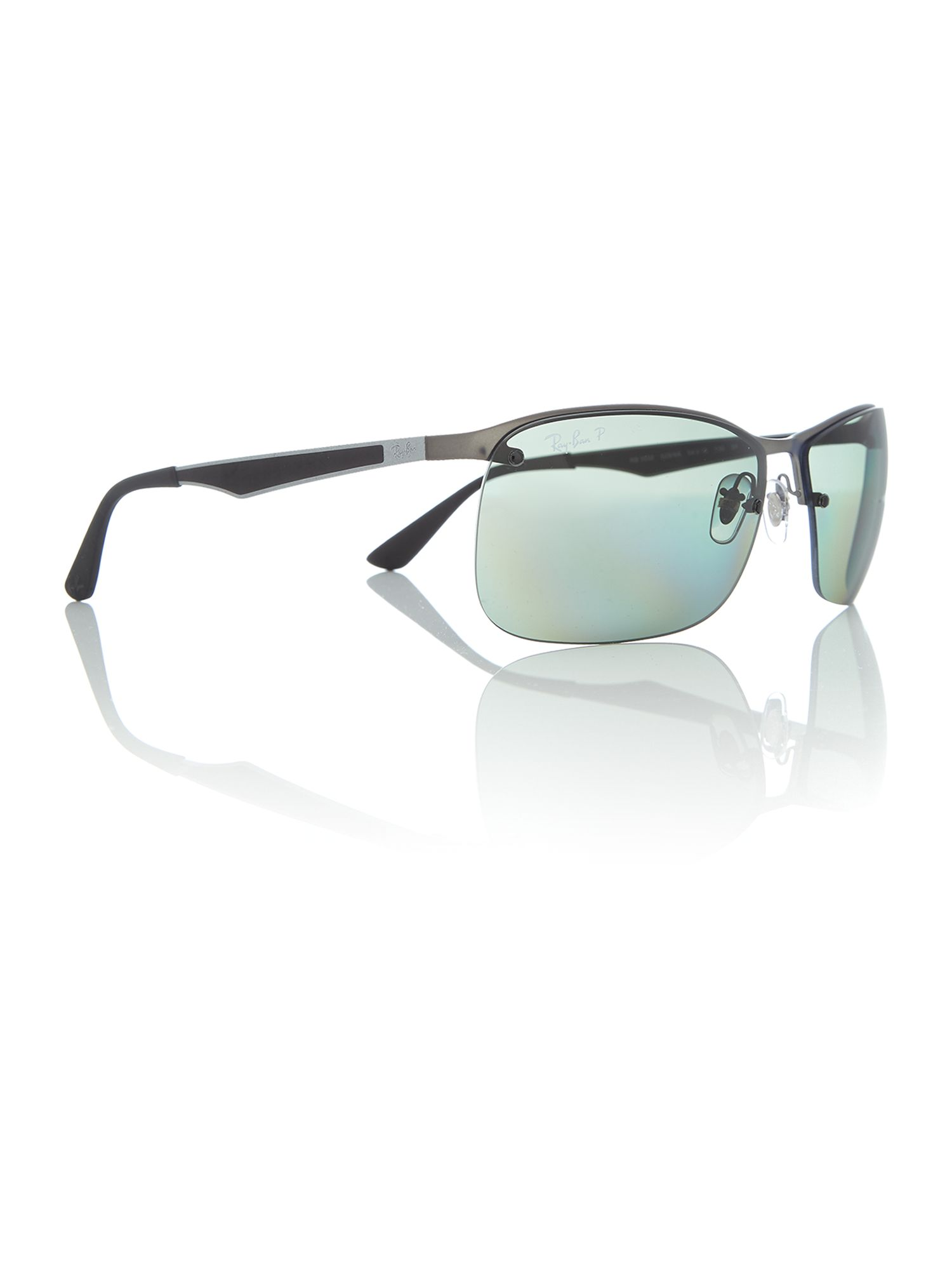 fe0706a47 Ray-Ban Gunmetal square RB3550 sunglasses, Silver | Octer | £163.00
