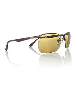 Brown square RB3550 sunglasses
