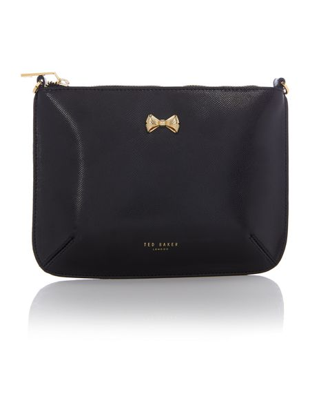 Ted Baker Amalia black bow crossbody bag