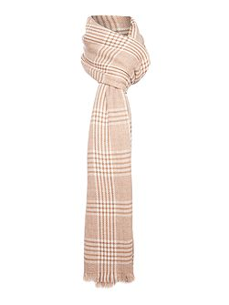 Giotto checked wool scarf