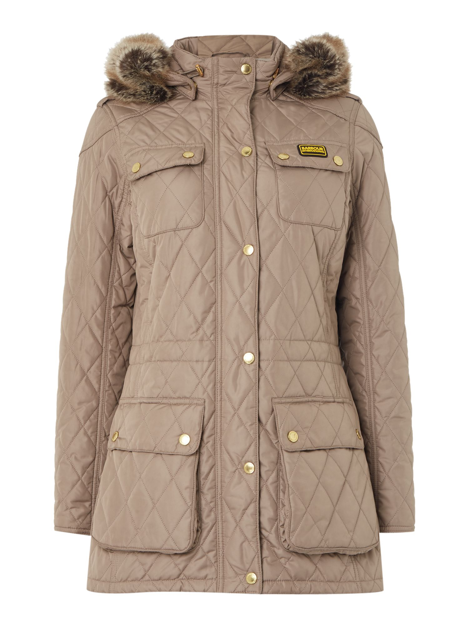 Barbour International Enduro Quilt, Taupe