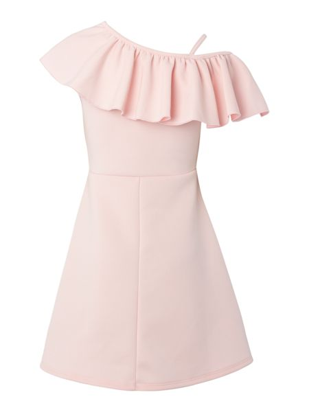 Blush Girls Strappy Frill Dress