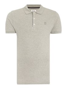 Diesel Regular fit zip collar logo polo shirt