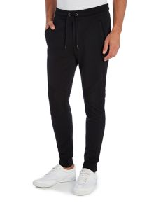 Diesel Mesh panel cuffed sweat pants
