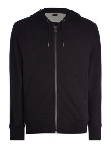 Diesel Mesh sleeve zip through hoodied sweat
