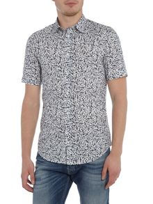 Diesel Regular fit floral short sleeve shirt