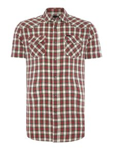 Diesel Regular fit shirt sleeve check shirt