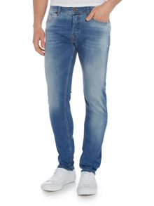 Diesel Sleenker 852V skinny fit stretch light wash jeans