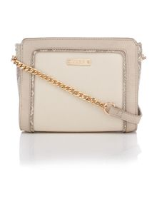 Juno Multi-colour snakeskin cross-body bag