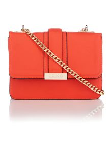 Juno Orange fold over cross-body bag