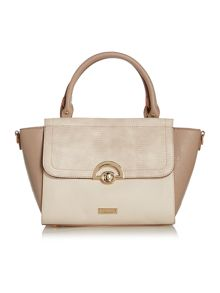 Juno Multi-colour taupe cross-body tote bag