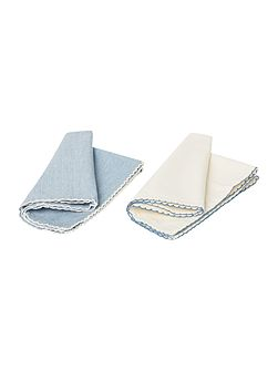 Cross weave napkins set of 4