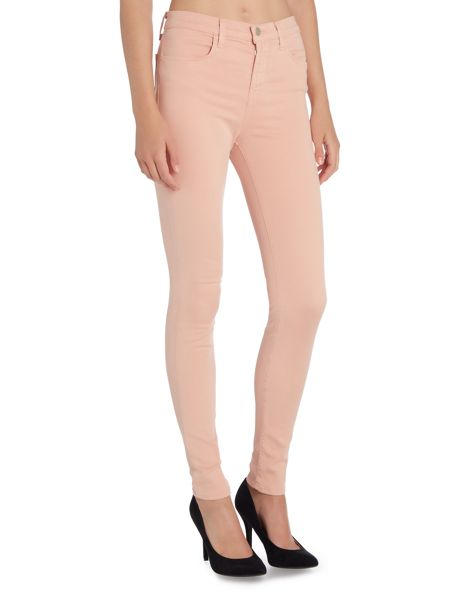 J Brand Maria high rise skinny luxe sateen jeans