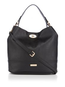 Juno Black bucket bag