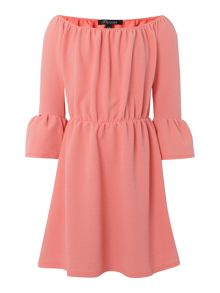 Blush Girls Bardot Frilled sleeve Dress