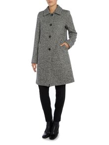 Max Mara Albany long sleeve herringbone wool coat