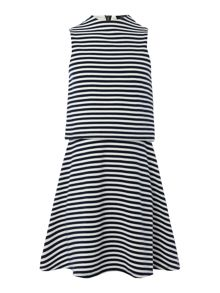 Blush Girls Double Layer Stripe Jersey Dress