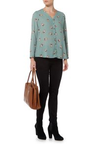 Dickins & Jones Benni Fox Printed Blouse