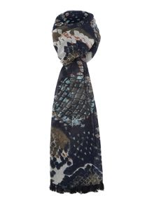 Pieces Tasselled long scarf