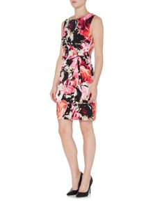 Episode Sleeveless wrap front printed dress