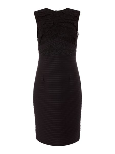 Linea Mia lace top illusion dress