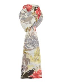 Pieces Floral long scarf