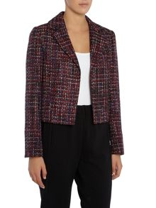 Ellen Tracy Textured crop jacket