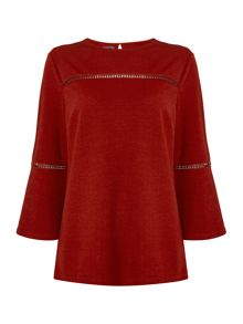 Therapy Libby Bell Sleeve Trim Detail Top