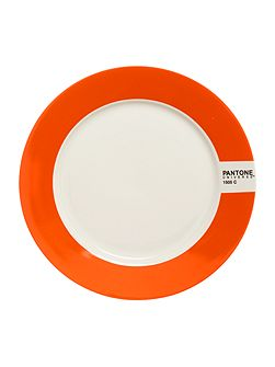 Small plate luca trazzi orange