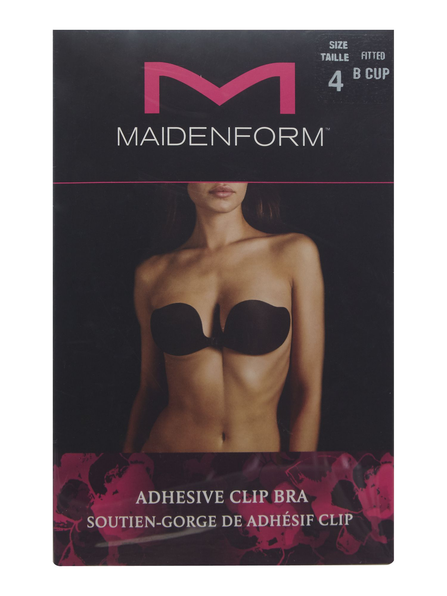Maidenform Accessories Adhesive clip bra Black