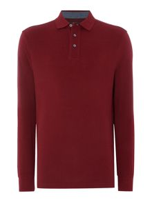 Howick Paxton Plain Pique Long Sleeve Polo Shirt