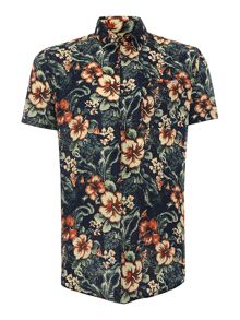 Jack & Jones Floral All Over Print Short Sleeve Shirt
