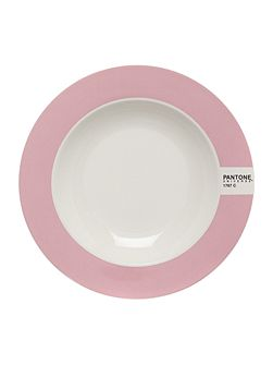Soup plate luca trazzi pink