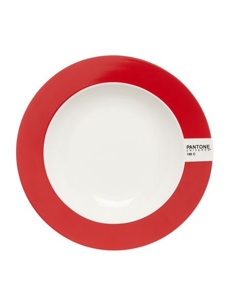 Pantone Soup plate luca trazzi red