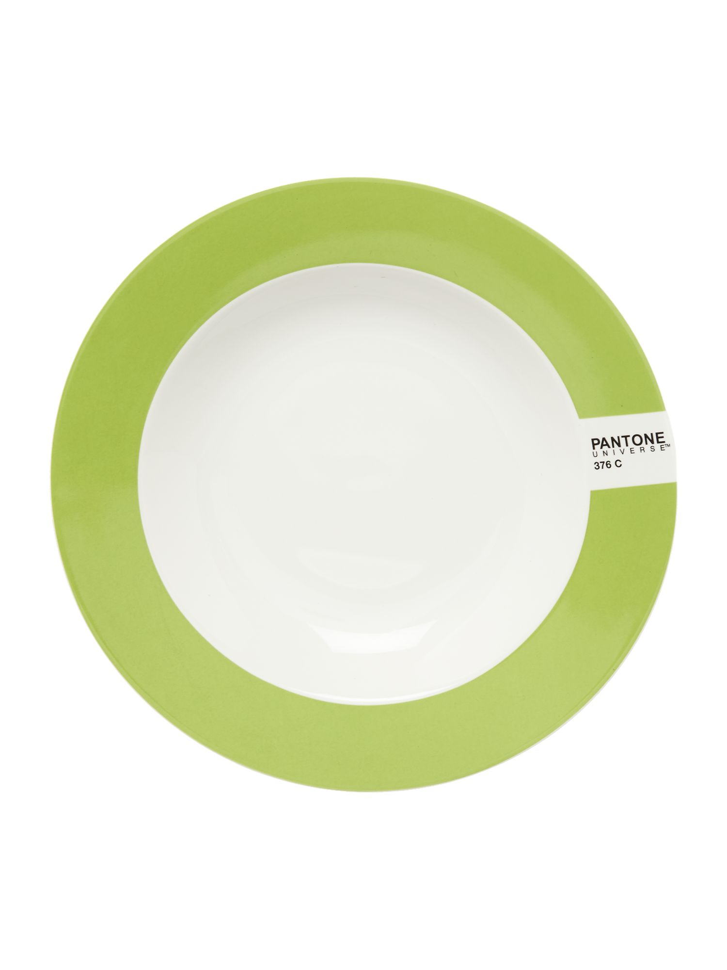 Image of Pantone Soup plate luca trazzi bright green
